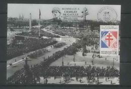 398 Charles De Gaulle - CARTE Carte Maximum (card) N° 2656 1990 PARIS - Maximum Cards