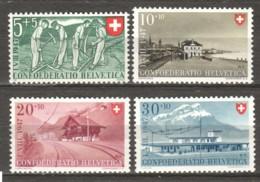 Switzerland 1947 Mi 480-483 MNH CONFOEDERATIO HELVETICA - Schweiz