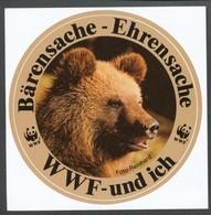 Vignette Sticker   WWF-und Ich Bärensache- Ehrensache - Erinnophilie