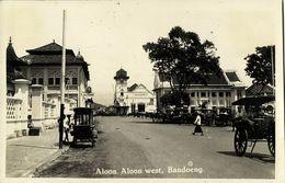 Indonesia, JAVA BANDUNG, Aloon Aloon West, Niescompto (1920s) RPPC Postcard - Indonesië