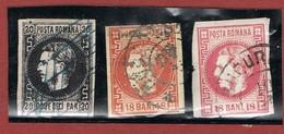 Roemenië Yvert & Tellier Nrs 16, 20, 20a 2 Scan - 1881-1918: Charles Ier