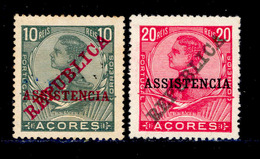 ! ! Azores - 1911 King Manuel Postal Tax (Complete Set) - Af. IPT 01 To 02 - MH - Açores