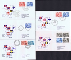 Denmark, Finland, Iceland, Norway And Sweden  1969;  Nordic Cooperation (NORDEN) On FDC - Emissions Communes