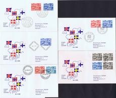 Denmark, Finland, Iceland, Norway And Sweden  1969;  Nordic Cooperation (NORDEN) On FDC - Gemeinschaftsausgaben