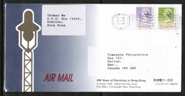 HONG KONG   Scott # 494a (Type II) & 500c On COMMERCIAL ADVERTISING AIRMAIL COVER To CANADA (OS-479) - Hong Kong (...-1997)