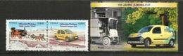 Camionnette Renault Kangoo Des Postes Française Et Autrichienne. Europa 2013. Bloc'feuillet + 2 Timbres Neufs ** - Voitures