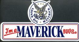 Vignette Sticker   J'n A  Maverick Auto Revue - Vignetten (Erinnophilie)