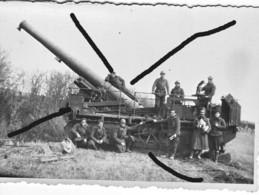 Armée Française St Chamond 155 GPF  à Chenille Artillerie France 40? (7) - Krieg, Militär
