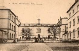 Belgique. CPA. VIRTON. école Moyenne Et Collége Communal. éléves. 1919 - Virton