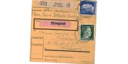 Colis Postal  -  De Sevelen ( über Geldern )   - Pour Waldheim - Coin En Haut à Gauche Coupé - Briefe U. Dokumente