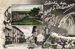 BORGO SAN DALMAZZO - SALUTI - CUNEO - VIAGGIATA - Cuneo
