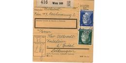Colis Postal  -  De Wien - Pour Waldheim - Spittel - Duitsland
