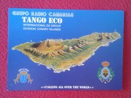 POSTAL POST CARD QSL RADIOAFICIONADOS RADIO AMATEUR GRUPO TANGO ECO SPAIN TENERIFE CANARY ISLANDS ISLAS CANARIAS ISLA DE - Tarjetas QSL