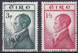 Ireland/1953 - Robert Emmet Death 150th Anniv. - Set - USED - 1949-... Republik Irland