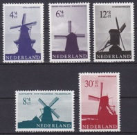 Netherlands/1963 - Culture & Social Relief Fund, Windmills/Zomerzegels, Molens - Set - MH - Period 1949-1980 (Juliana)