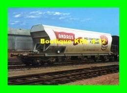 """ACACF 186 - Wagon Pour Le Transport Du Sucre, """"Pot De Confiture"""" Andros En Gare - PITHIVIERS - Loiret - SNCF - Matériel"""