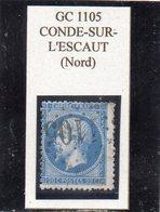 Nord - N° 22 Obl GC 1105 Condé-sur-l'Escaut - 1862 Napoleon III