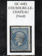 Nord - N° 22 Obl GC 4482 Cousolre-le-Château - 1862 Napoléon III.
