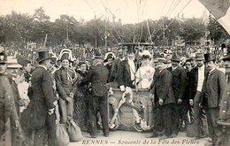 Rennes (35) : Souvenir De La Fête Des Fleurs N° 28 Départ En Ballon Du Marié Et De La Mariée - Rennes
