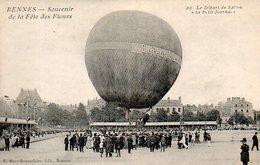 Rennes (35) : Souvenir De La Fête Des Fleurs N° 29 Départ Du Ballon Le Petit Journal - Rennes