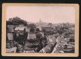 PHOTO SUR CARTON  11.5 X 8 CM  - LUXEMBOURG MIT GRUND - Luxembourg - Ville
