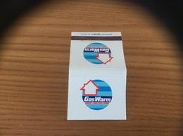 Pochette D'allumettes ANGLETERRE «GasWarm ENERGY CONSCIOUS HOMES» - Matchboxes