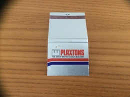 Pochette D'allumettes ANGLETERRE «PLAXTONS THE GREAT BRITISH COACH BUILDERS» - Matchboxes