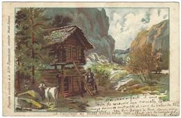 Le Paturage Au Village Suisse - Paris 1900 - SIP - Dessin - Unclassified