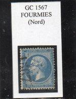 Nord - N° 22 Obl GC 1567 Fourmies - 1862 Napoleon III