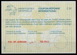 JORDANIE / JORDAN La27D 700 FILS InternationalReply Coupon Reponse Antwortschein IAS IRC Mint ** - Jordanien