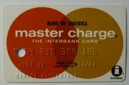 USA - Credit Card - Master Charge - Bank Of America - Exp 04/81 - VF Used - Krediet Kaarten (vervaldatum Min. 10 Jaar)