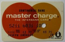 USA - Credit Card - Master Charge - Continental Bank - Exp 03/79 - Used - Krediet Kaarten (vervaldatum Min. 10 Jaar)