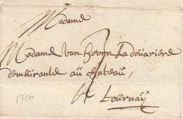 Gand 24 Octobre 1716 à Tournai (avec Texte) - 1714-1794 (Pays-Bas Autrichiens)