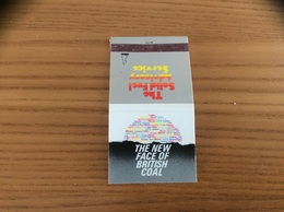 Pochette D'allumettes *x ANGLETERRE «THE NEW FACE OF BRITISH COAL - The Solid Fuel Advisery Service» - Matchboxes
