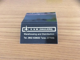 Pochette D'allumettes ANGLETERRE «K. & M. HAULIERS - Warehousing And Distribution» - Matchboxes