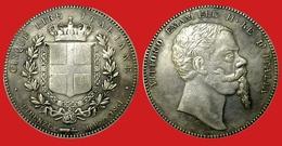 ITALIA 5 Lire 1861 Firenze Scudo - Regno Vittorio Emanuele II 1861 - 1878 KM# 7 - 1861-1946 : Kingdom