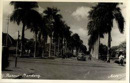 Indonesia, JAVA BANDUNG, Jalan Pasteur, Car (1940s) SUN RPPC Postcard - Indonesië
