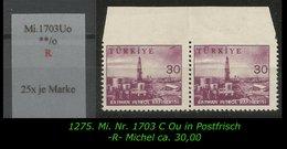 TURKEY ,EARLY OTTOMAN SPECIALIZED FOR SPECIALIST, SEE.... Mi. Nr. -.- 1703 C Oben Ungezähnt -R- - 1921-... República