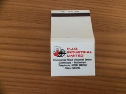 Pochette D'allumettes ANGLETERRE «PJO INDUSTRIAL LIMITED - Rotherham» - Matchboxes