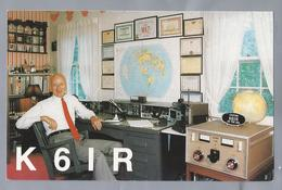 US.- QSL KAART. CARD. K6IR. KENNETH M. MILLER, SR. GEORGE WASHINGTON DRIVE ROCKVILLE, MARYLAND. USA - Radio-amateur