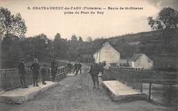 CPA CHATEAUNEUF-du-FAOU ( Finistère ) - Route De St-Gloazec Prise Du Pont Du Roy - Châteauneuf-du-Faou