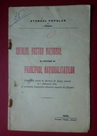 Romania Focsani St.Graur Idealul Nostru National - Books, Magazines, Comics