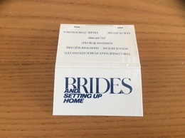 Pochette D'allumettes * ANGLETERRE «BRIDES AND SETTING UP HOME - LONDON» - Matchboxes