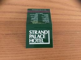 Pochette D'allumettes * ANGLETERRE «STRAND PALACE HOTEL» - Matchboxes