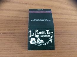 Pochette D'allumettes ** ANGLETERRE «LE MANGE-TOUT RESTAURANT - HARROGATE» - Matchboxes