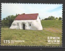 """Österreich 2019: """"Erwin Wurm - Fat House"""" Postfrisch (siehe Scan) - 2011-... Ungebraucht"""