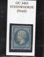 Nord - N° 22 Obl GC 3463 Steenwoorde - 1862 Napoleon III