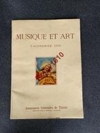 Calendrier Illustré Musique Et Art. Assurances Générales De Trieste. 1958.  13 Scans - Calendriers