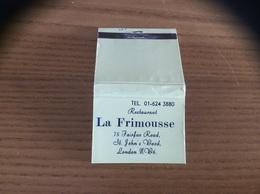 Pochette D'allumettes ANGLETERRE «Restaurant La Frimousse - LONDON» - Matchboxes