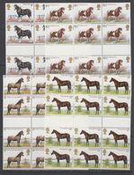 Great Britain 1978 Horses 4v 12x (3x Gutter) ** Mnh (43614) - 1952-.... (Elizabeth II)